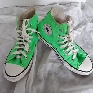 Converse All Star High Tops Lime Green Unisex